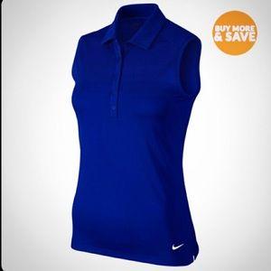 NIKE GOLF Polo Shirt sleeveless blue size Small